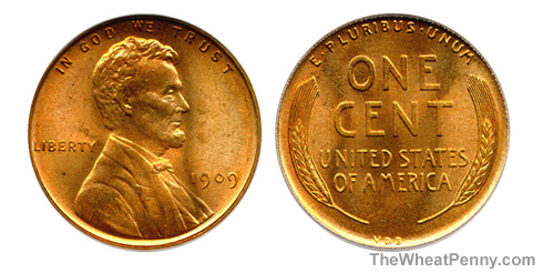 1909 VDB Wheat Penny