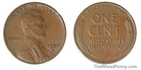 1959 D Wheat Penny